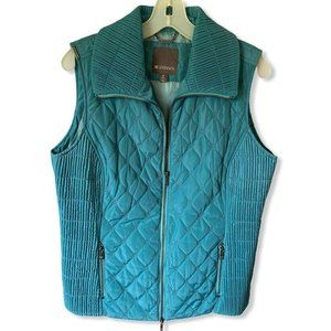 SPANNER Womens Vest Jacket Blue Zip Up Quilted Col